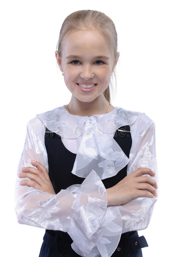 Verticale de jeune fille fair-haired image stock