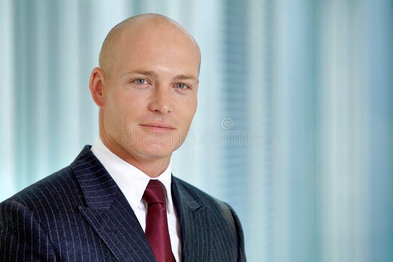 Verticale de jeune homme d'affaires caucasien dans le bureau photographie stock libre de droits
