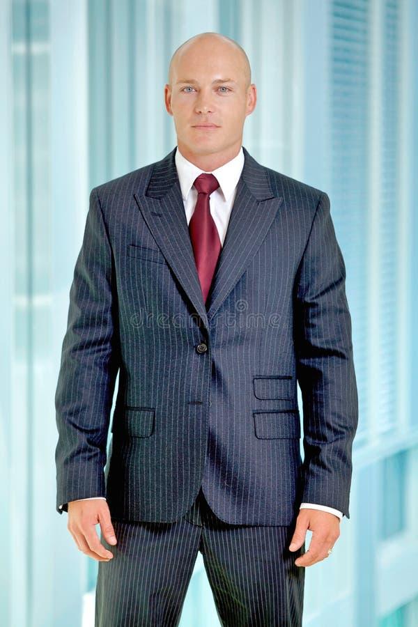 Verticale de jeune homme d'affaires caucasien dans le bureau photo stock