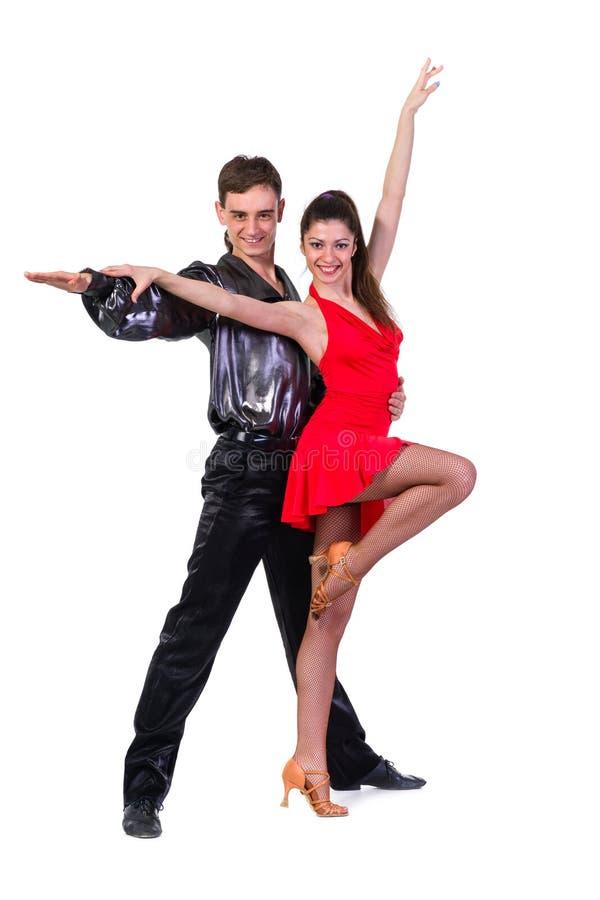 Verticale de jeunes danseurs de tango d'élégance photos stock