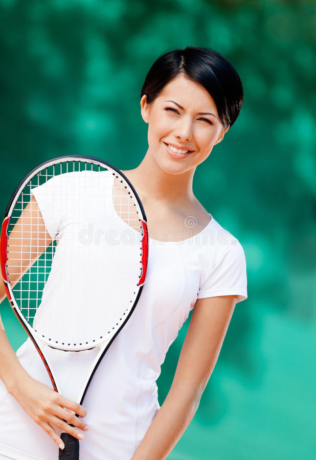 Verticale de joueur de tennis professionnel photo libre de droits