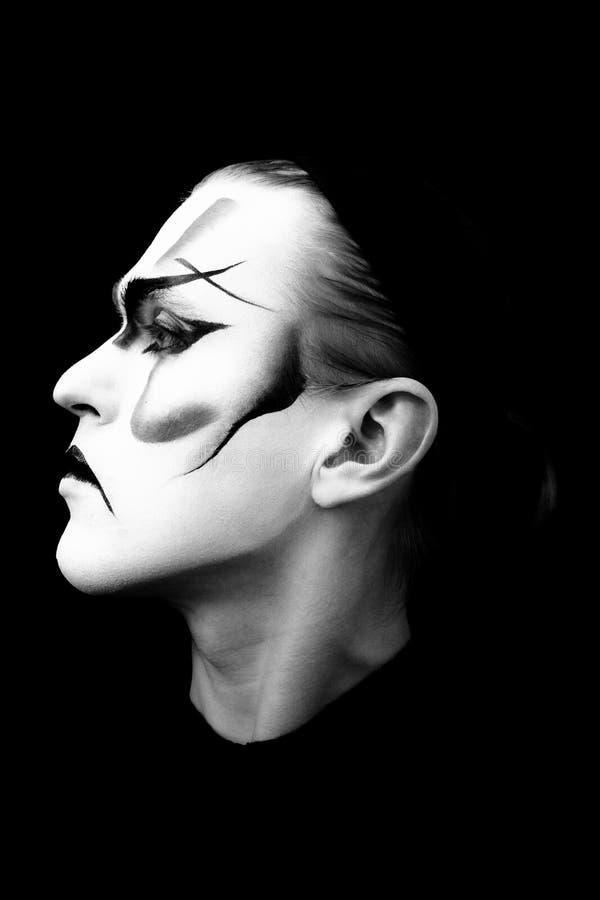 Verticale de l'acteur Kabuki photographie stock