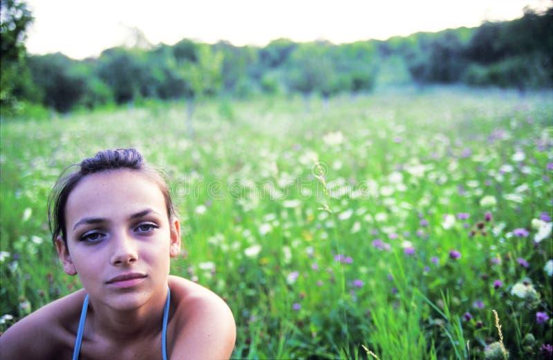 Verticale de l'adolescence photo libre de droits