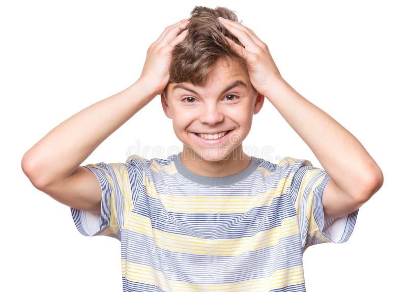 Verticale de l'adolescence de gar?on image libre de droits