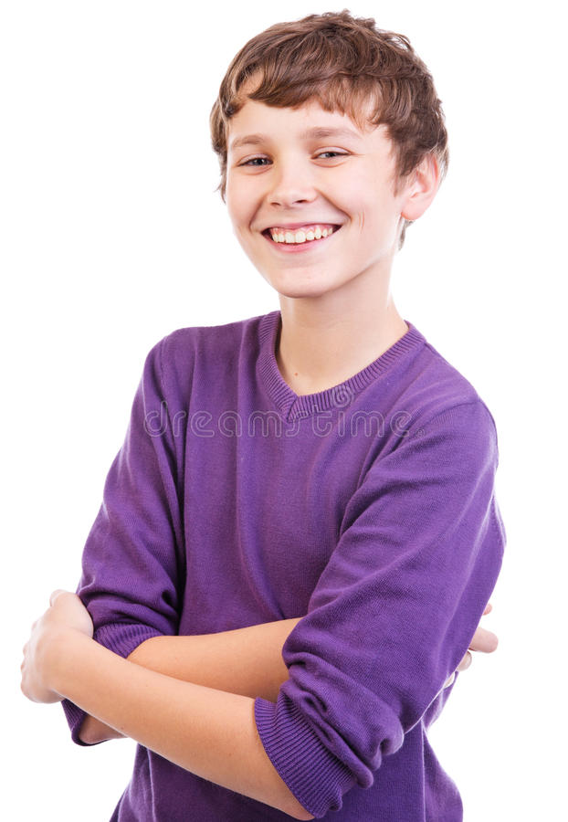 Verticale de l'adolescence heureuse image libre de droits