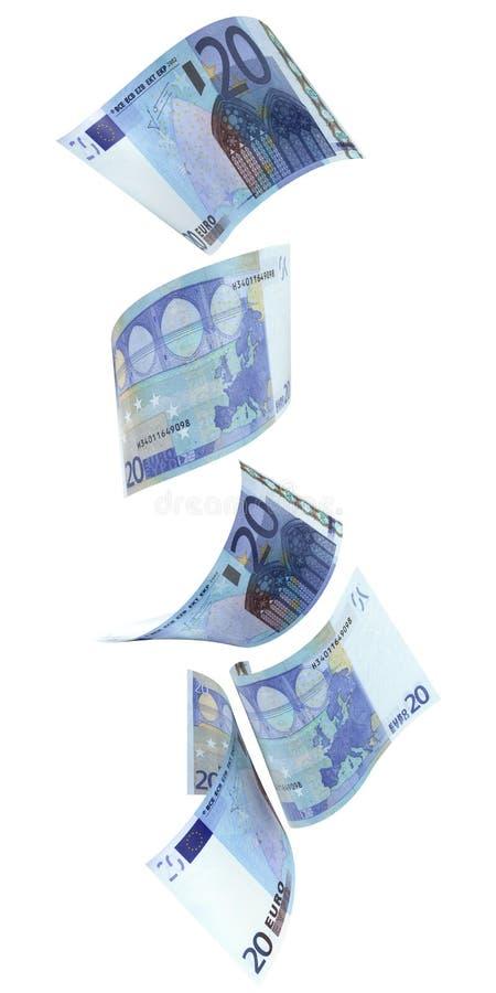 Verticale de l'euro 20 illustration stock