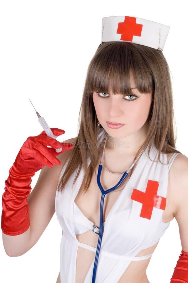 Verticale de l'infirmière sexy images stock