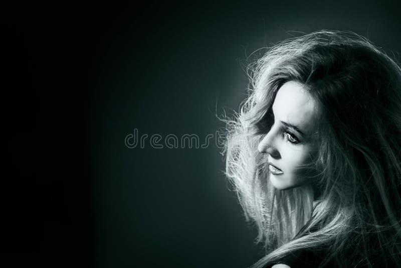 Verticale de la belle femme photo libre de droits