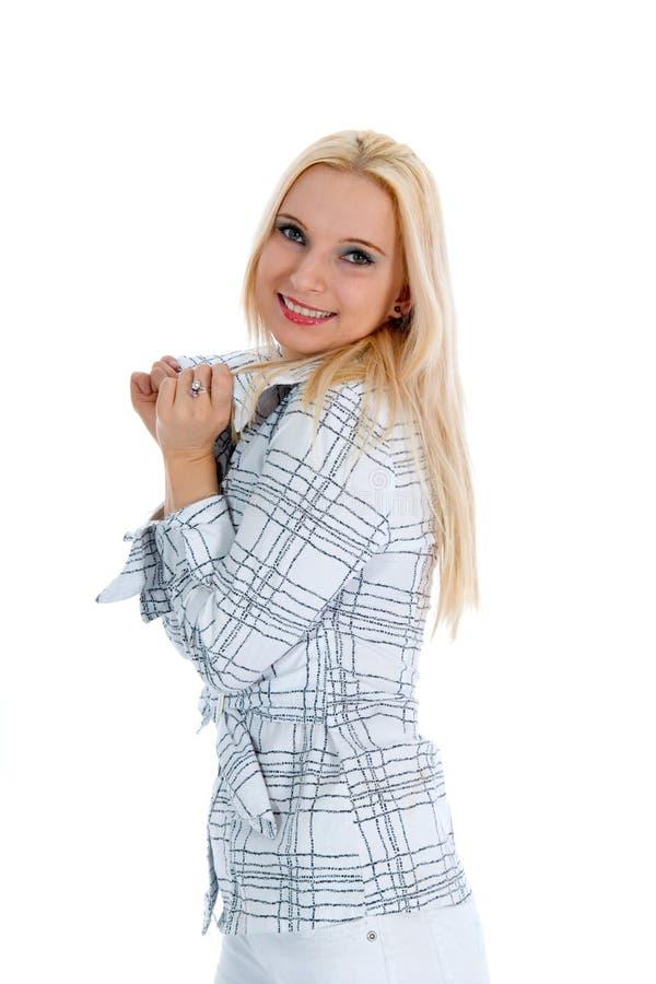 Verticale de la blonde image libre de droits