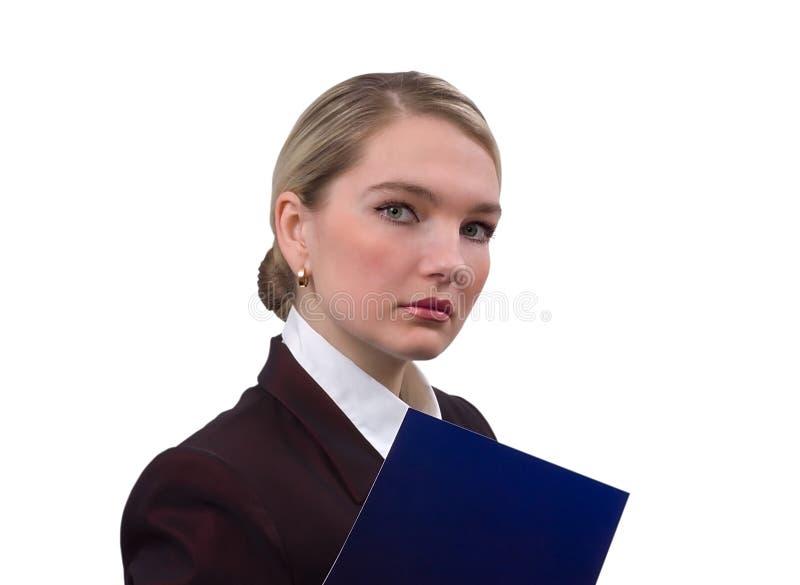 Verticale de la femme d'affaires image libre de droits