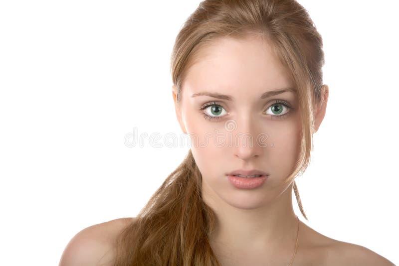 Verticale de la fille avec les yeux verts photo libre de droits