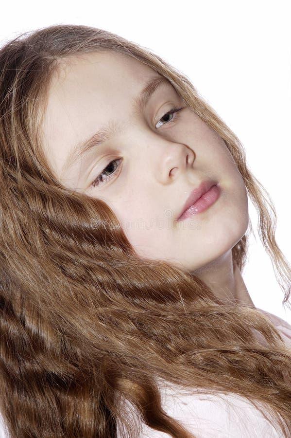 Verticale de la jeune fille. images stock