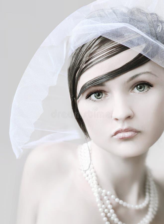 Verticale de la mariée image stock