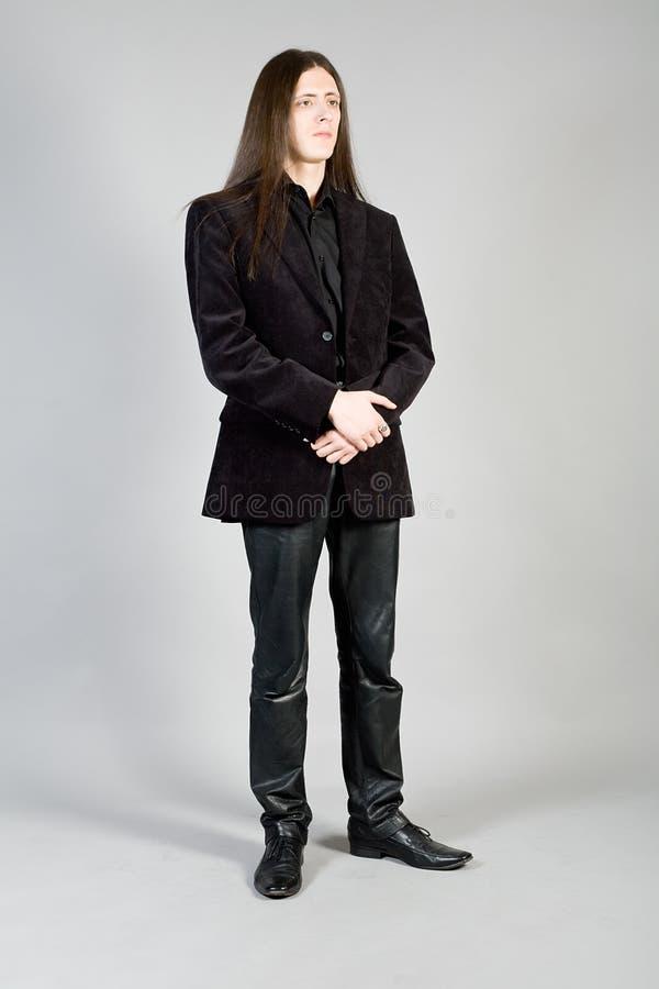 Verticale de mode d'un homme photos libres de droits