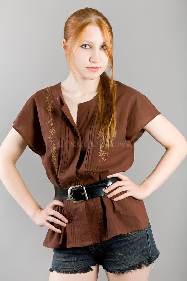 Verticale de mode d'une fille image stock