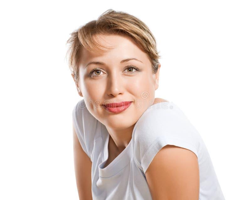 Verticale de mode de belle fille blonde photos stock