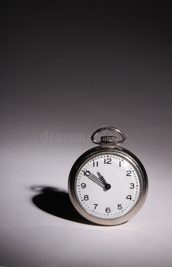 Verticale de montre de poche photo libre de droits