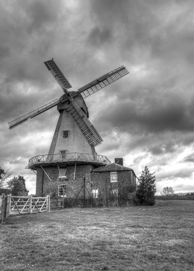 Verticale de moulin à vent image stock