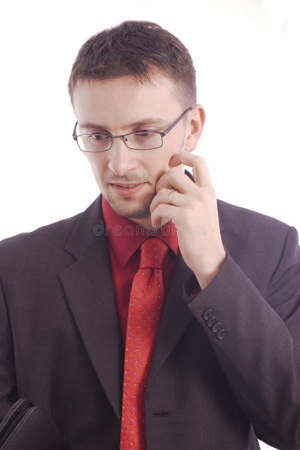 Verticale de penser d'homme d'affaires photo stock