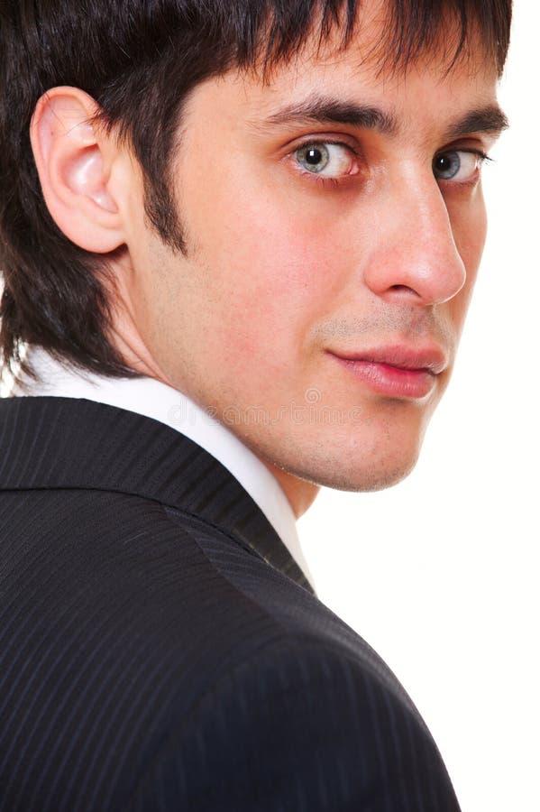 Verticale de plan rapproché d'homme d'affaires souriant photo stock