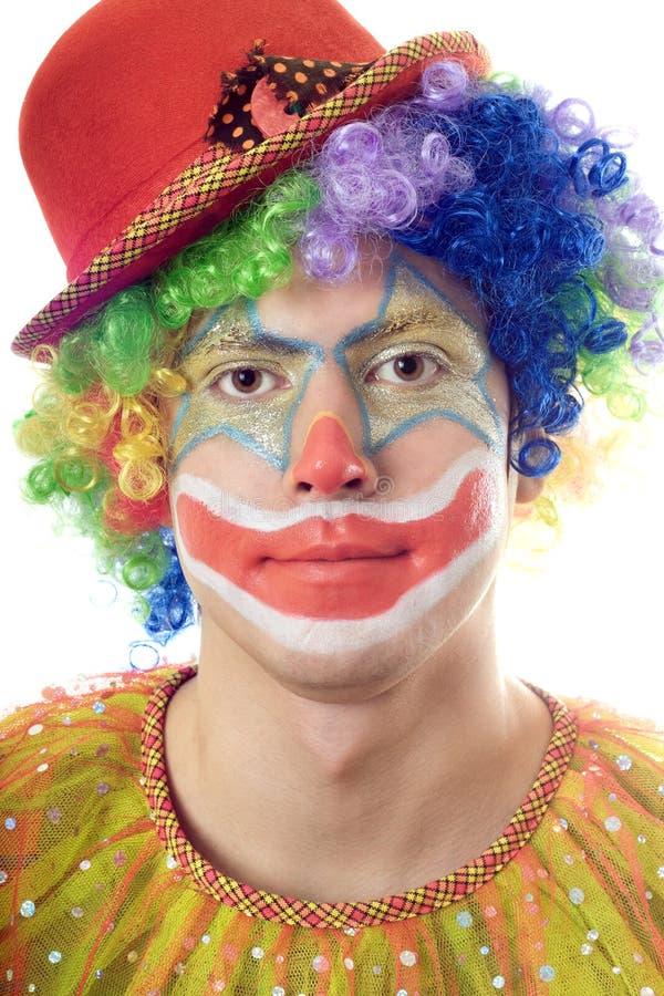 Verticale de plan rapproché d'un clown photographie stock