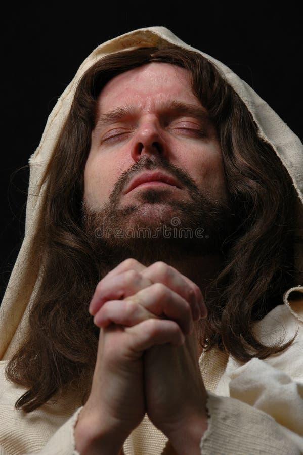 Verticale de prière de Jesusin photographie stock libre de droits