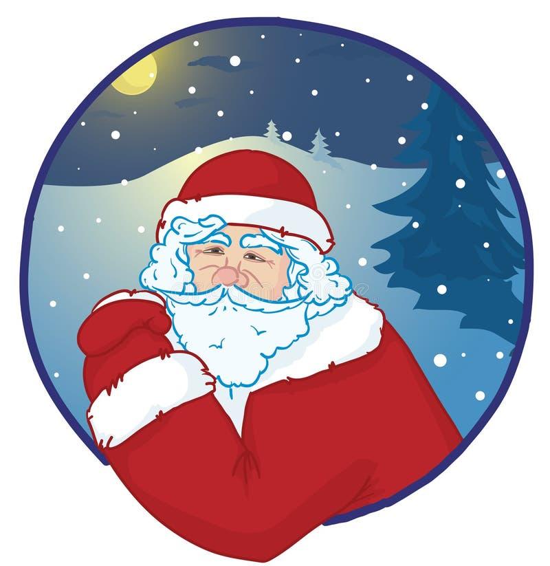 Verticale de Santa illustration de vecteur