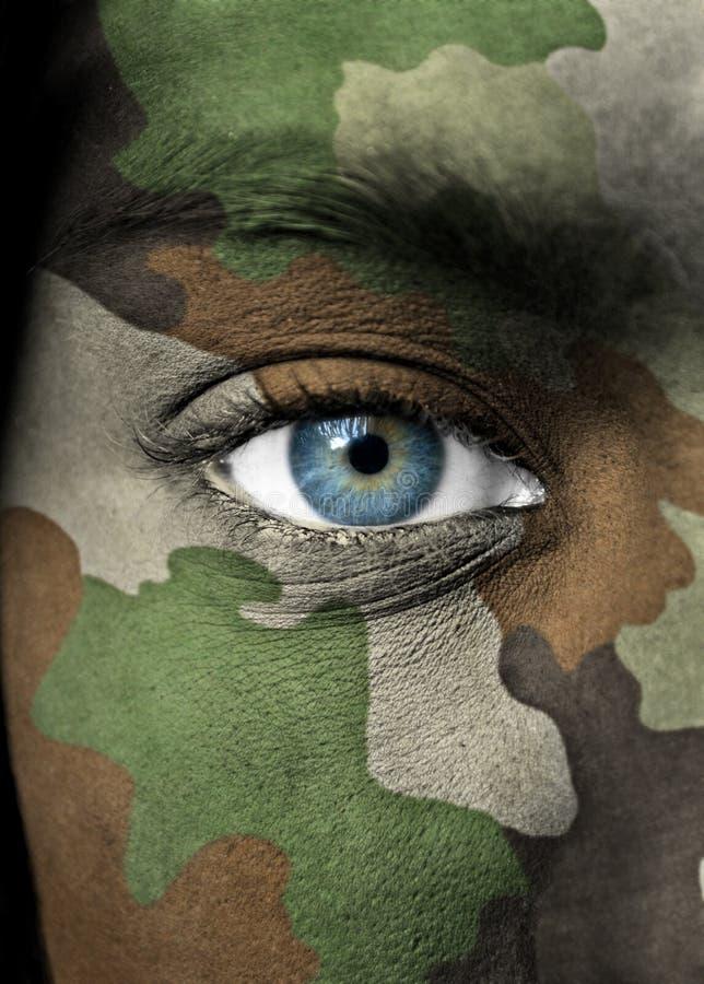 Verticale de soldat photo libre de droits