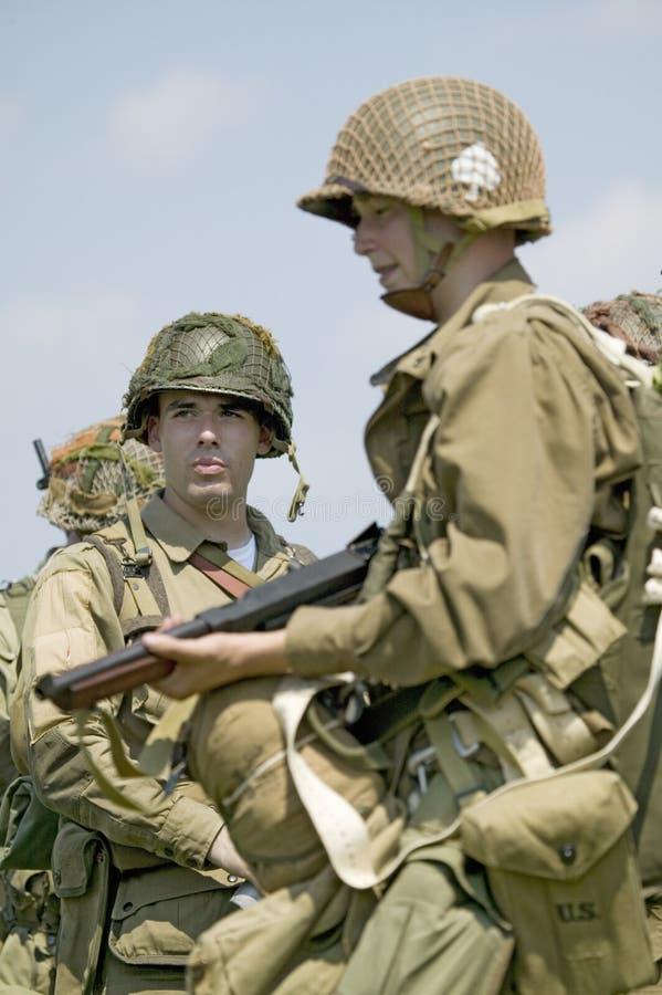 Verticale de soldat d'infanterie américain de Joe de GI, photos libres de droits