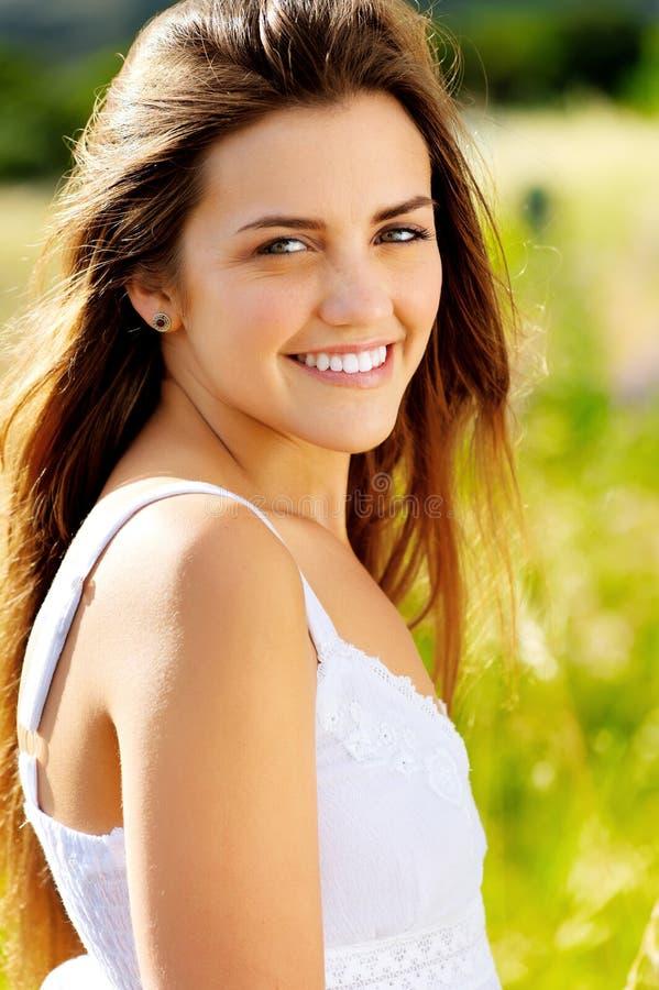 Verticale de sourire images libres de droits
