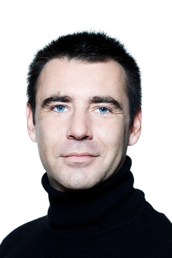 Verticale de sourire de œil bleu caucasiens beaux d'homme photos stock