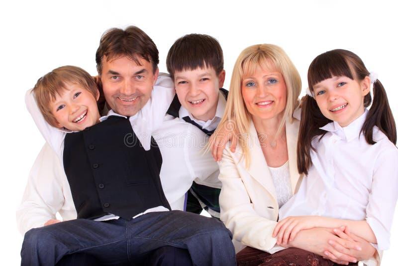 Verticale de sourire de famille image stock