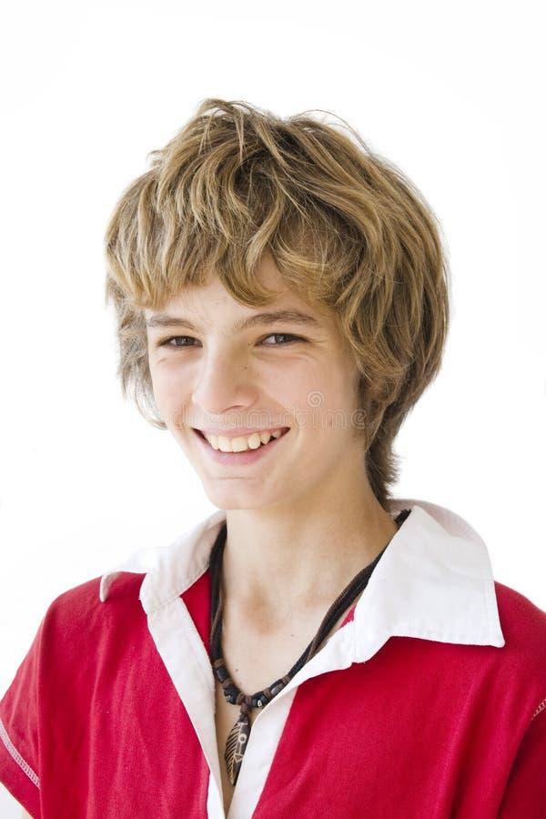 Verticale de sourire de garçon images libres de droits
