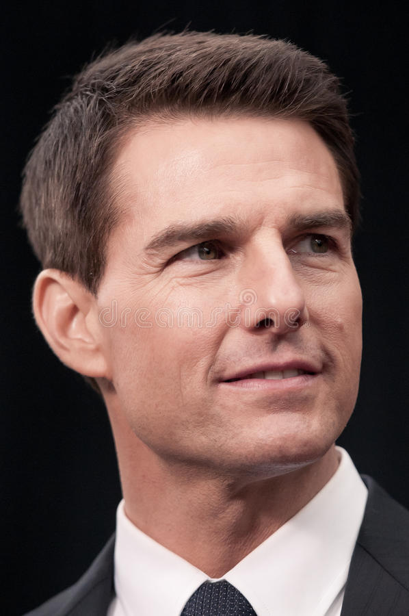 Verticale de Tom Cruise photographie stock