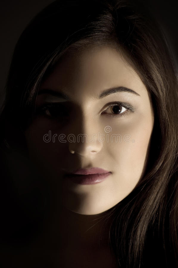 Verticale de type de charme de joli femme photos stock