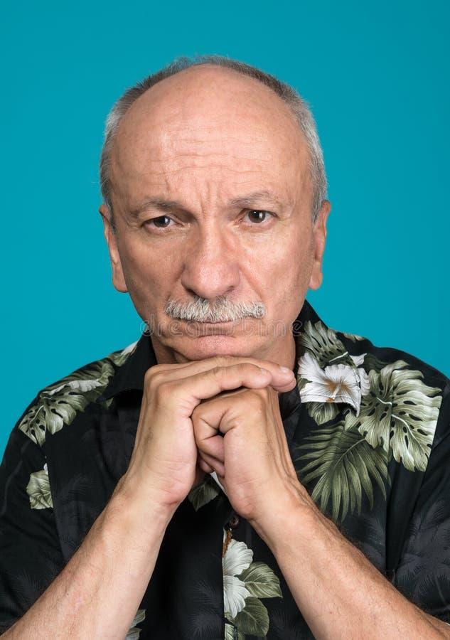 Verticale de vieil homme photos libres de droits
