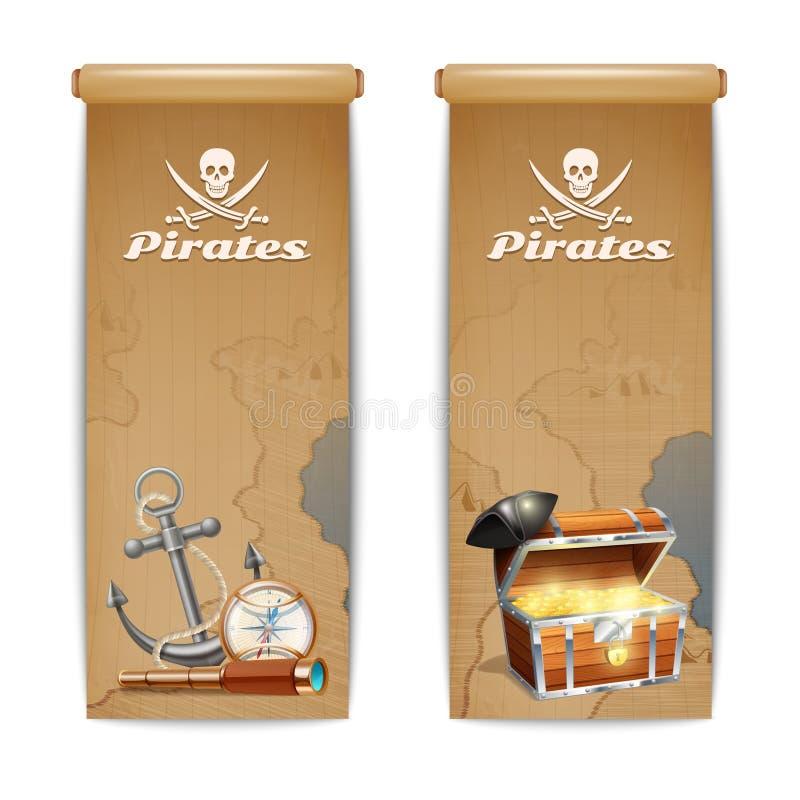 Verticale dell'insegna del pirata royalty illustrazione gratis