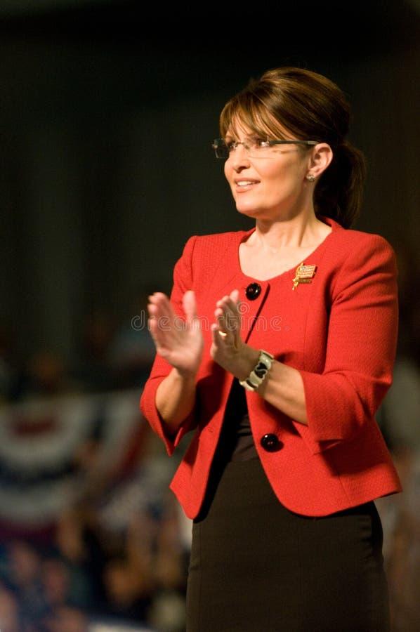 Verticale della Sarah Palin del regolatore che applaude 2 fotografia stock libera da diritti