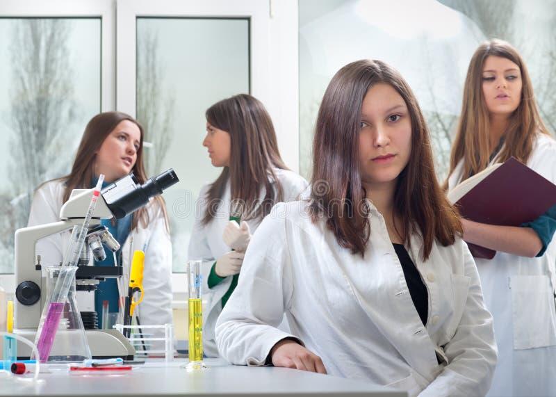 Verticale des étudiants en médecine photo stock