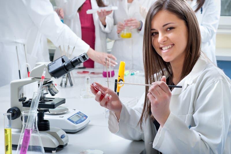 Verticale des étudiants en médecine photo libre de droits