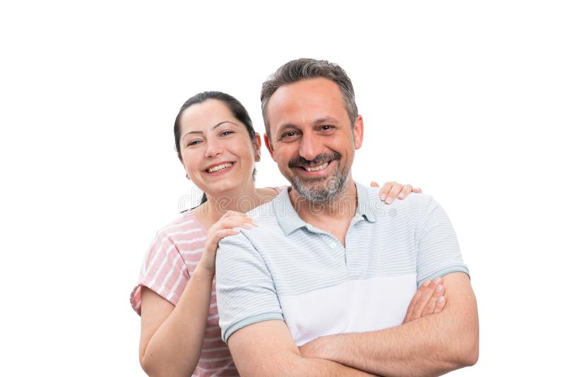 Verticale des couples de sourire photos libres de droits
