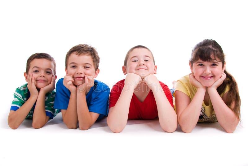 verticale des enfants quatre photographie stock libre de droits