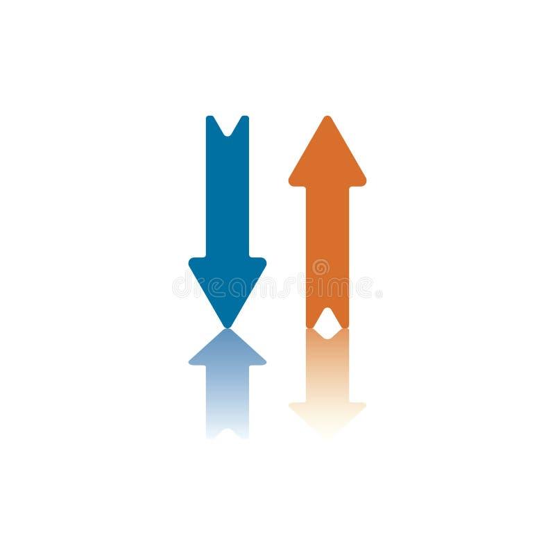 verticale des flèches deux illustration de vecteur