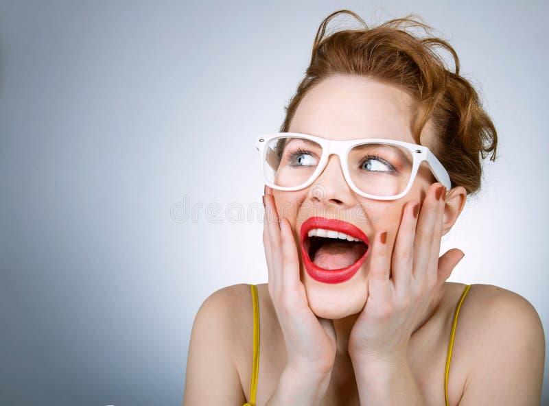 Femme expressive image stock
