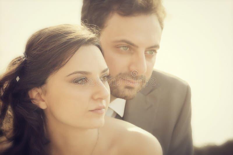 Verticale des ménages mariés photographie stock