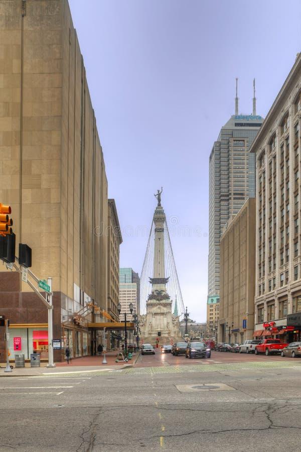 Verticale des soldats et du monument de marins, Indianapolis images libres de droits