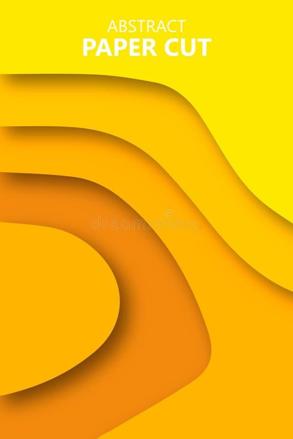 Verticale die banners met 3D samenvatting worden geplaatst royalty-vrije illustratie