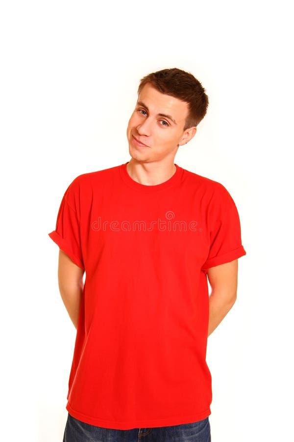 Verticale du danseur de sourire de type de hip-hop d'isolement sur le backg blanc images libres de droits