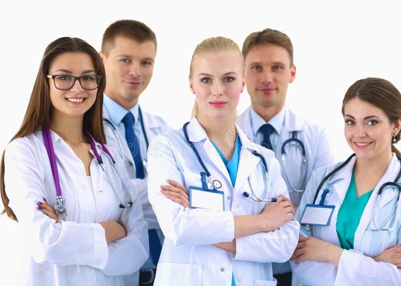Verticale du groupe de collègues de sourire d'hôpital images libres de droits