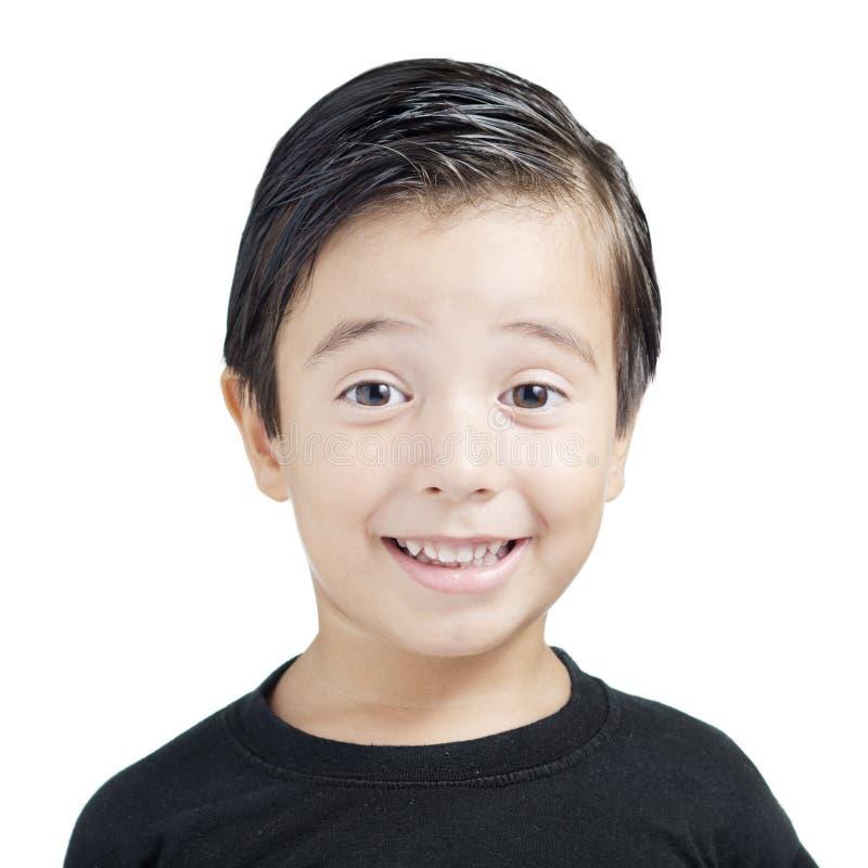 Verticale du sourire de gosse photographie stock
